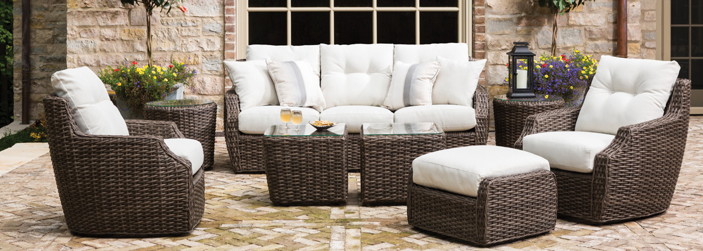 Lloyd Flanders Largo Collection Woven Vinyl Wicker Furniture