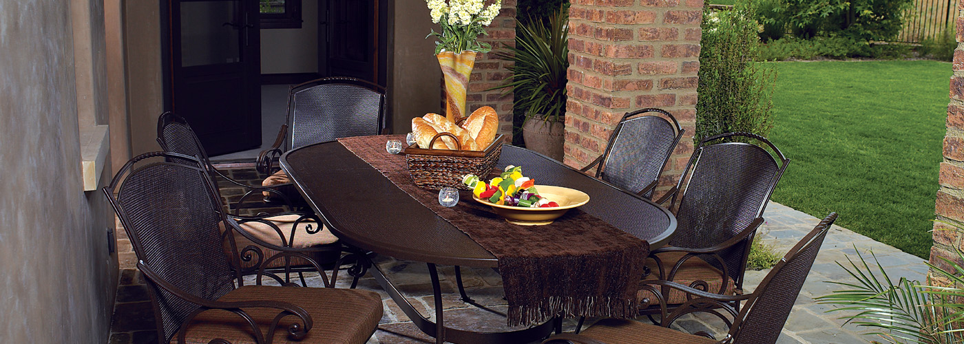 OW Lee Micro Mesh Wrought Iron Tables