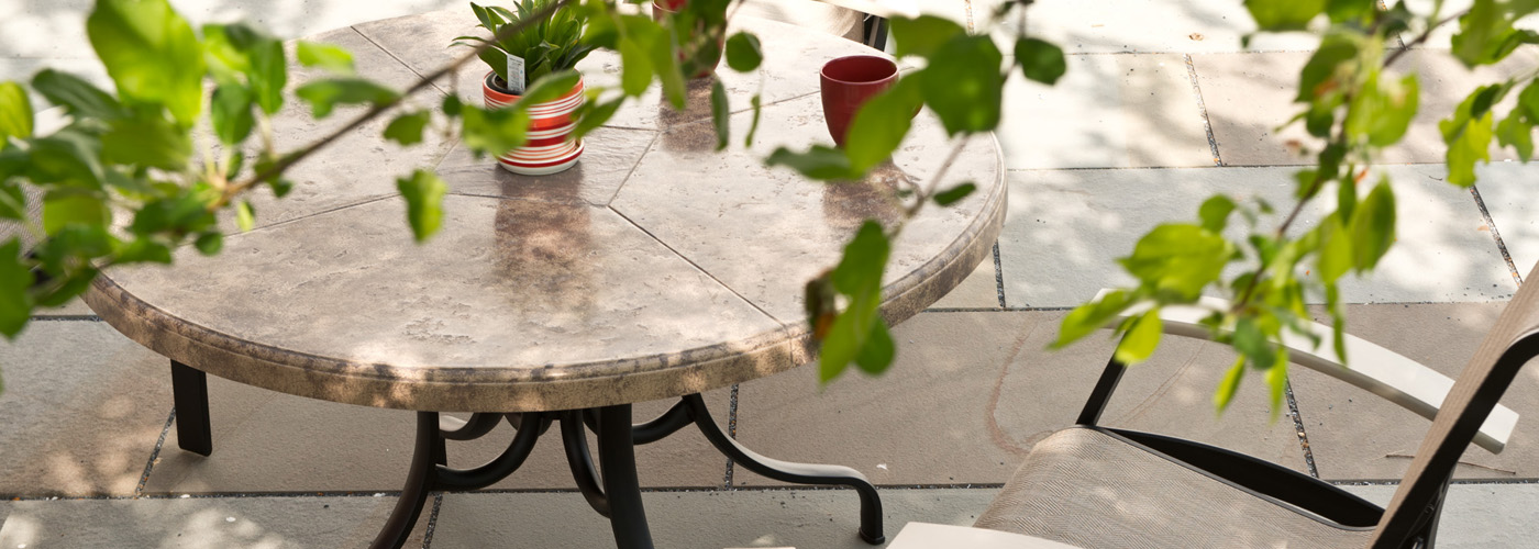 Telescope Casual Synthestone Patio Tables