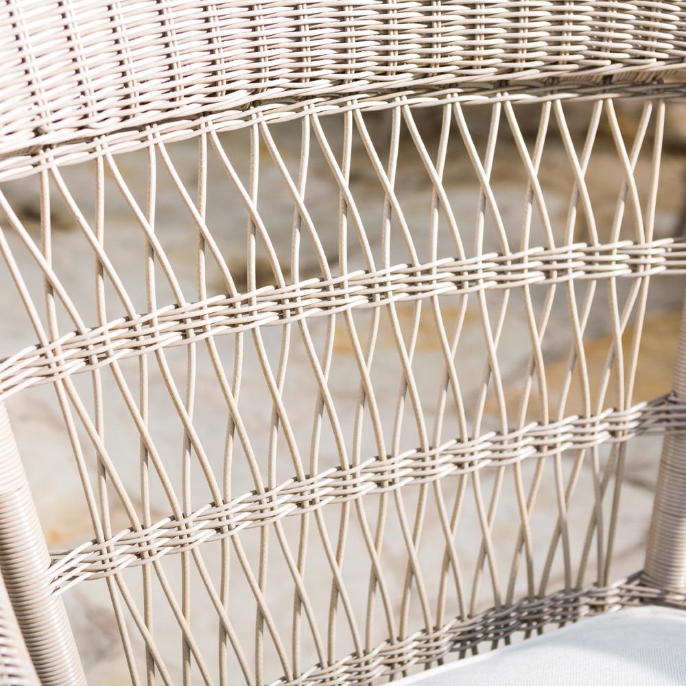 Fairhope Vinyl Wicker Barrel Dining Chair   271013 ...