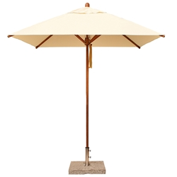 Bambrella Levante 7 Foot Square Umbrella - 21m-SQ-LCT