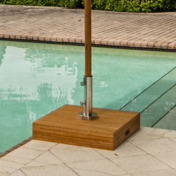 Bambrella 24 Inch Square Bamboo Umbrella Base Bb 70 48 58