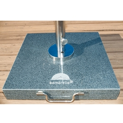 Bambrella 20 inch square Black Granite Umbrella Base - TH30-3010