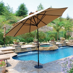Galtech Aluminum 11 Foot Round Umbrella with Deluxe Auto Tilt - 789