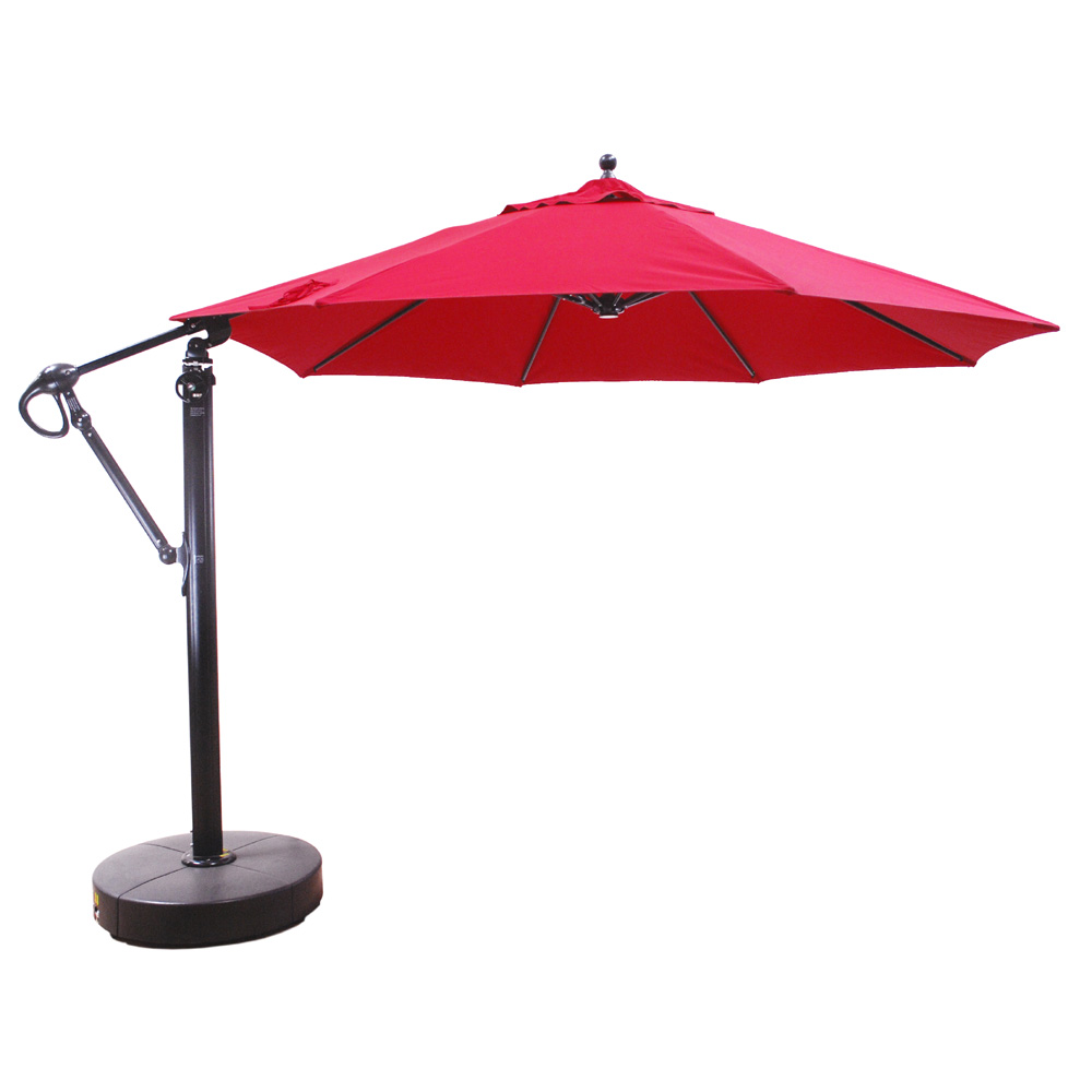 aluminum 11u0027 round cantilever umbrella with easy lift