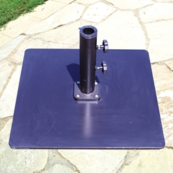 Galtech 21 Inch Steel Square Umbrella Base with 60 LBS. Weight - 060SQ