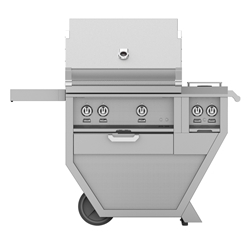 "Deluxe 30"" Grill with Work Top and Double Side Burner"