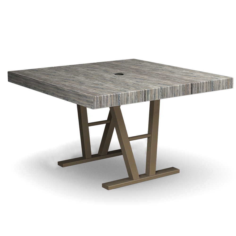 Homecrest atlas 45 square dining table 154545d for Square dining table