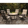 Homecrest Bellaire Chat Set with Durango Fire Pit Table - HOMECREST-BELLAIRE-SET4