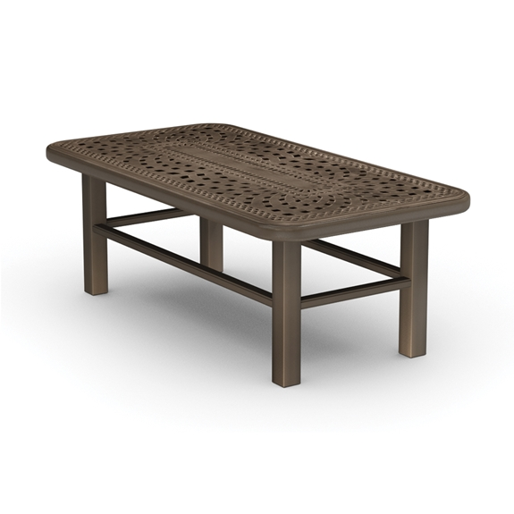 Homecrest Camden Cast X Coffee Table - 46 inch square coffee table