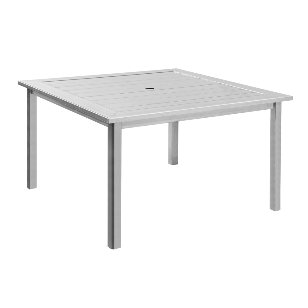 Black outdoor dining table - Homecrest Dockside 45 Inch Square Dining Table 314545d