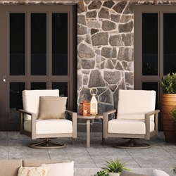 Homecrest Elements Cushion Swivel Rocker Chair and Table Set - HC-ELEMENTS-SET4