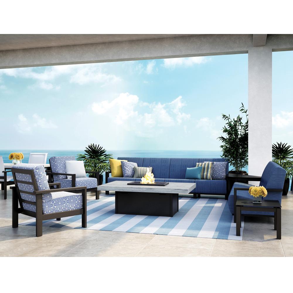 Homecrest Elements Air Patio Set With Fire Table   HC ELEMENTSAIR SET1
