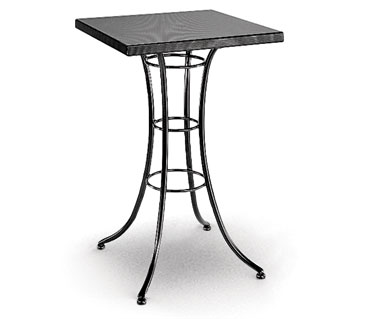 Homecrest Embossed 30 Inch Square Bar Table w/ Steel Base - 09211