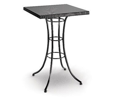 Homecrest Embossed 36 Inch Square Bar Table w/ Steel Base - 09215