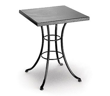 Homecrest Embossed 24 Inch Square Cafe Table w/ Steel Base - 19203