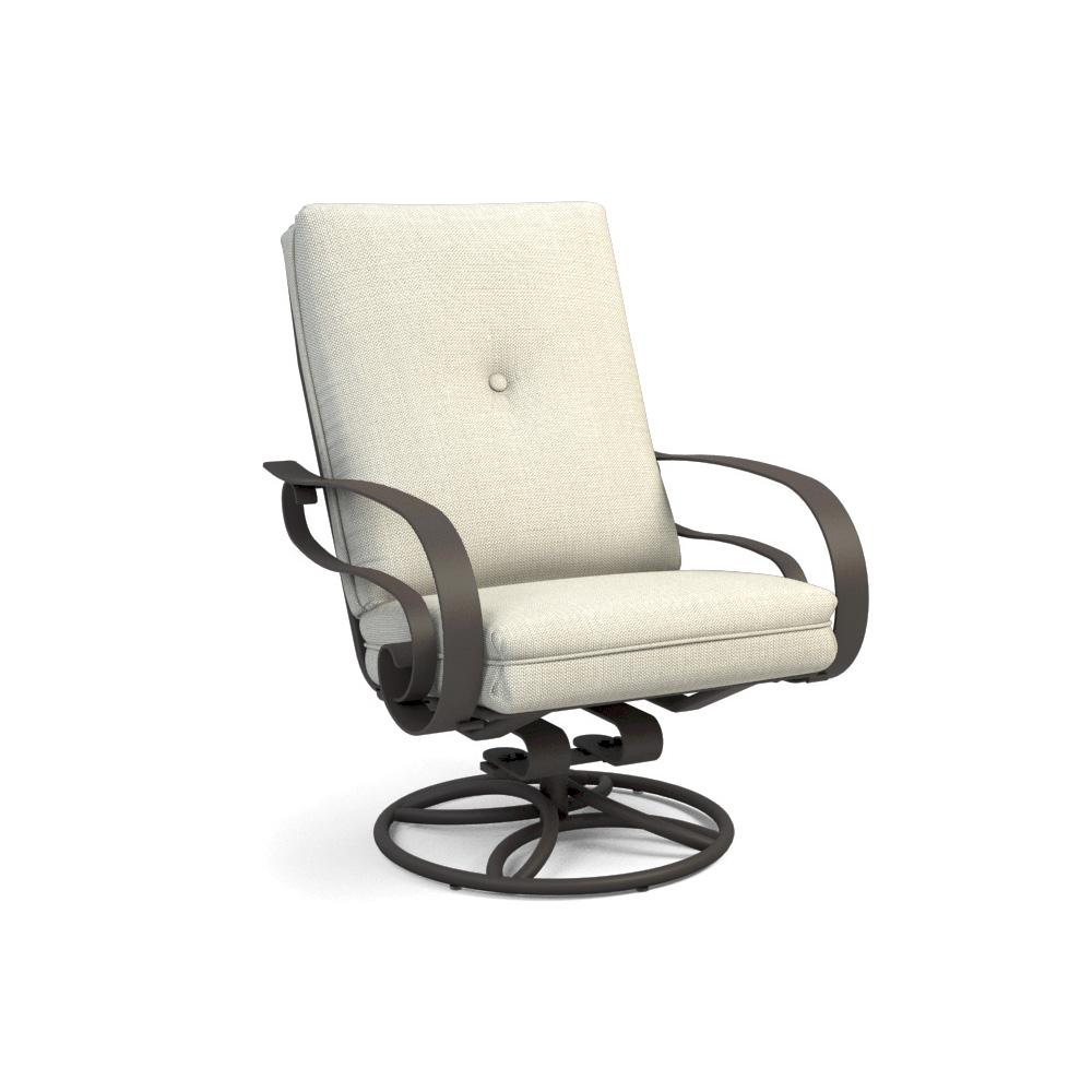 Homecrest Emory Cushion High Back Swivel Rocker Chat Chair