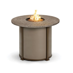 Homecrest Valero Natural 42 inch round Balcony Fire Pit Table - 4642BSG