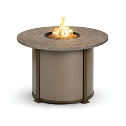 Homecrest Valero Natural 42 inch round Dining Fire Pit Table - 4642DSG