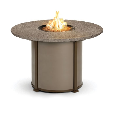 High Quality Homecrest Valero Natural 48 To 54 Inch Round Balcony Fire Pit Table    4654BSG