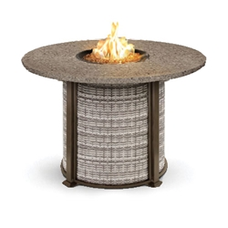 Homecrest Valero Natural Woven 48 to 54 inch round Balcony Fire Table - 4654BSGW