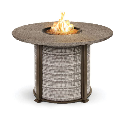 Homecrest valero natural woven 48 to 54 inch round balcony for Table 52 botswana