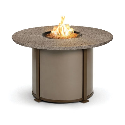 Homecrest Valero Natural 48 to 54 inch round Dining Fire Pit Table - 4654DSG