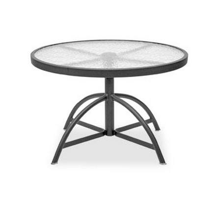 Homecrest Glass 30 Inch Round Adjustable Table   17304 ...