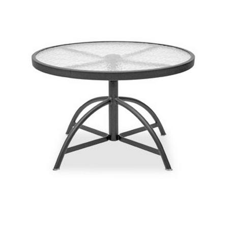 Homecrest Glass 30 Quot Round Adjustable Table 17304