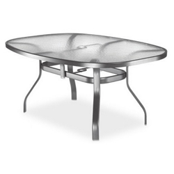 Homecrest Glass 43 x 78 inch Boat Shaped Dining Table - 1778501