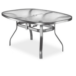 Homecrest Glass 43 x 78 inch Boat Shaped Balcony Table - 1778601