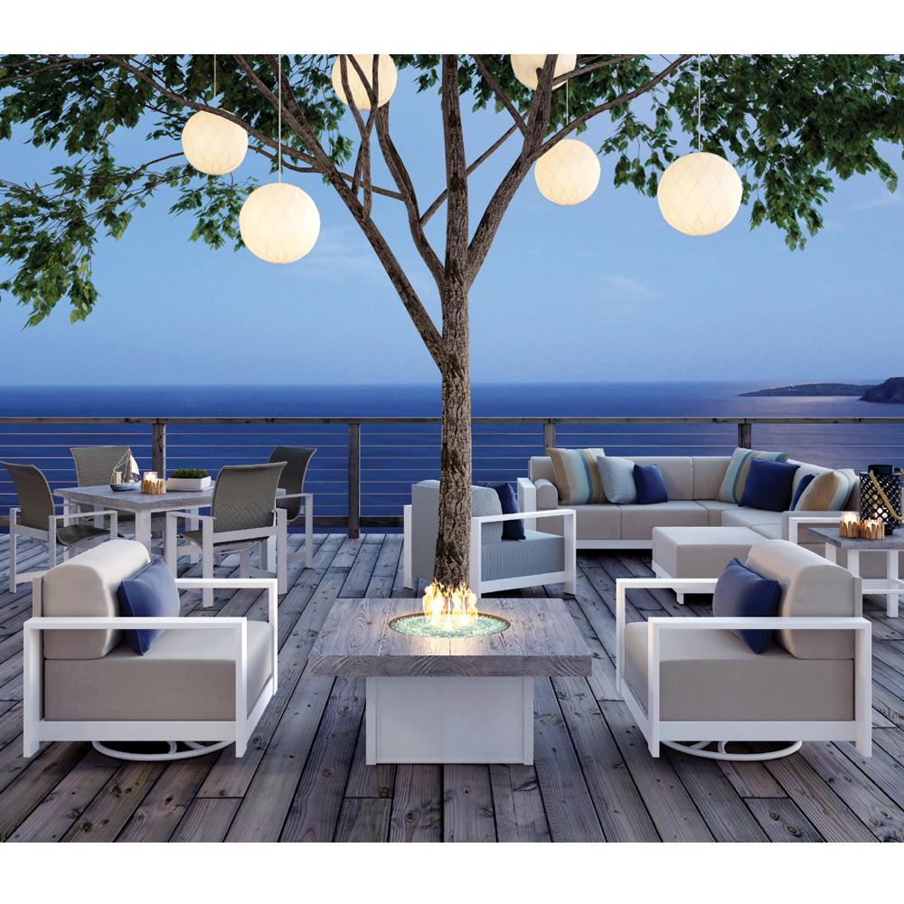Classic modern outdoor furniture design ideas grace Lounge Homecrest Grace Swivel Chairs With Timber Fire Table Hcgraceset4 Wayfair Homecrest Outdoor Furniture Usa Outdoor Furniture