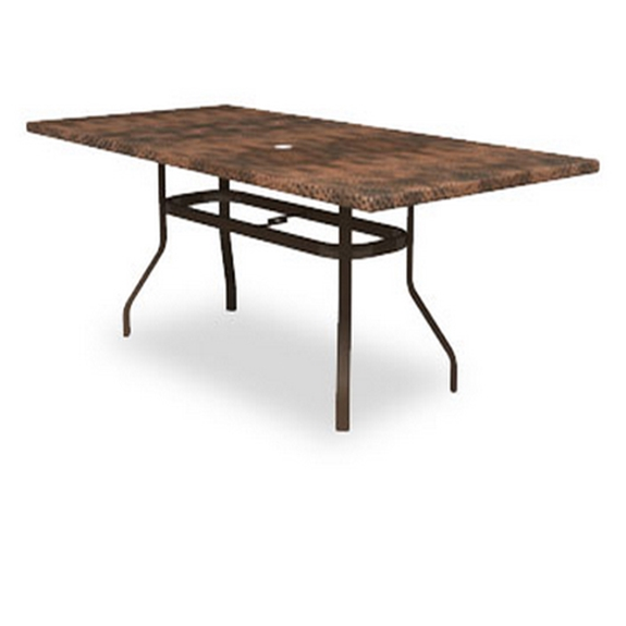 Homecrest Hammered Metal Rectangle Balcony Table With Angled Legs 384284bmh