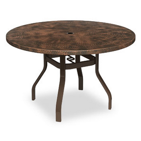 Homecrest Hammered Metal 42 Round Balcony Table With Angled Legs 3842rbmh Nu