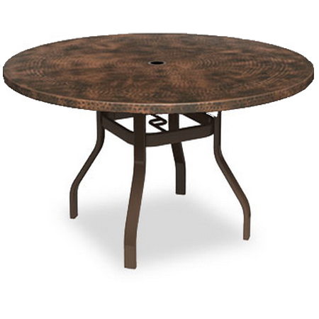 homecrest hammered metal 52 round balcony table with