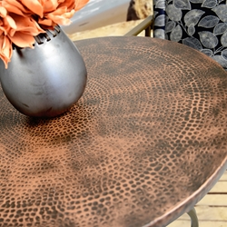 Homecrest Hammered Metal tables