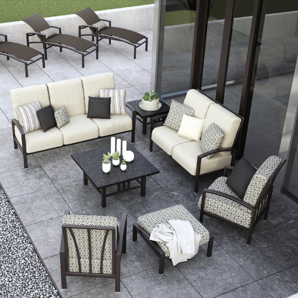 Homecrest Havenhill Cushion 7 Piece Patio Set
