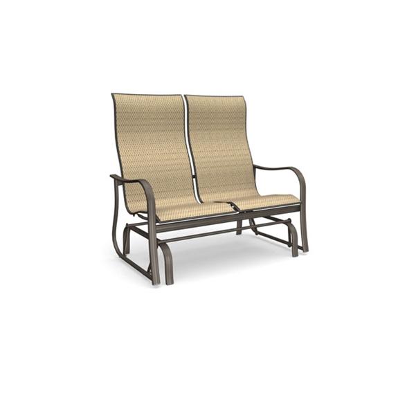 Homecrest holly hill high back loveseat glider 2a449 for Homecrest outdoor furniture
