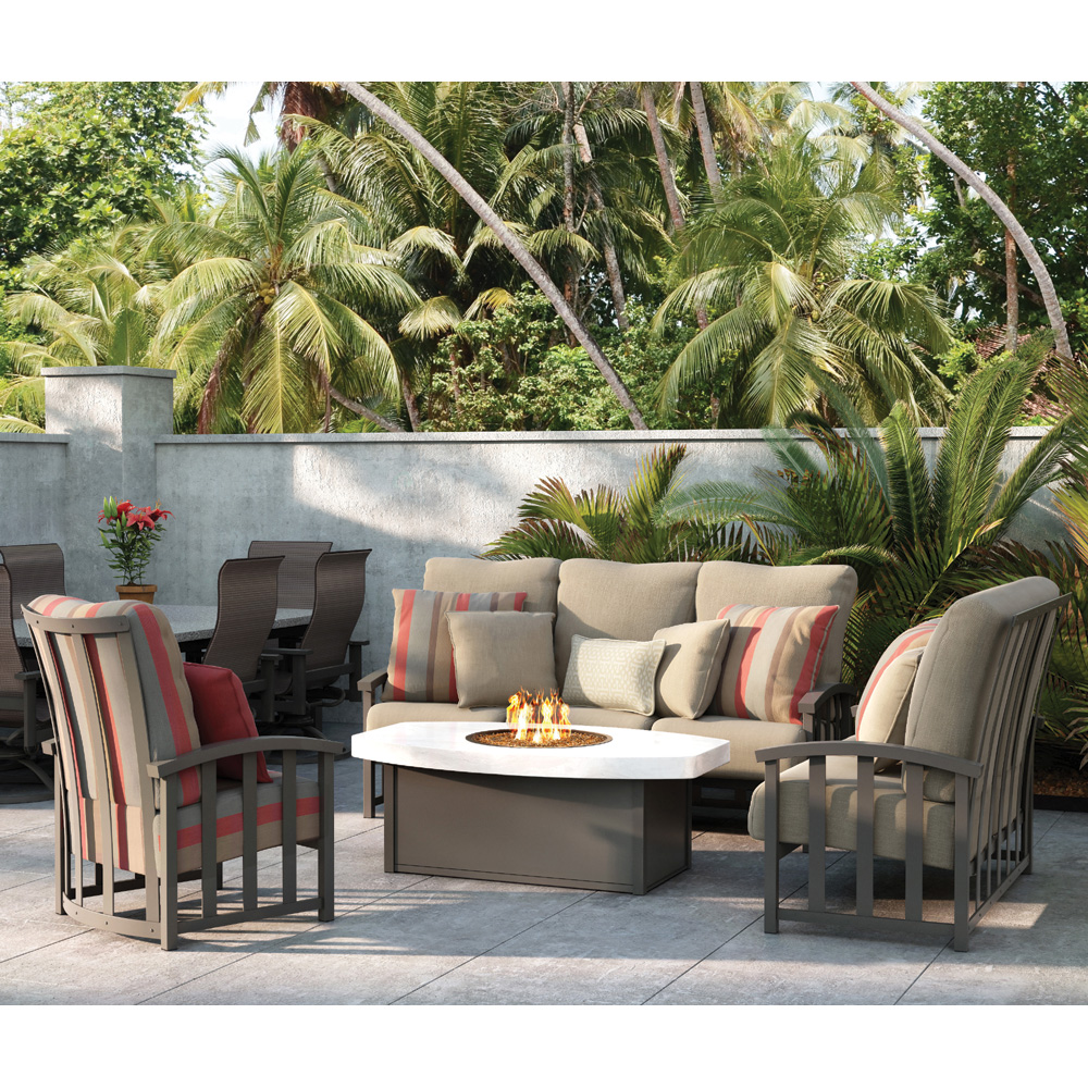 Homecrest Liberty Sofa Fire Pit Table Set - HC-LIBERTY-SET3