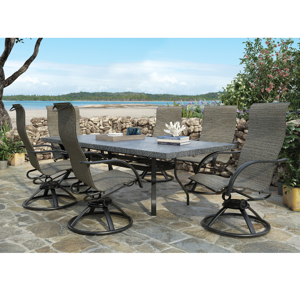 Homecrest Palisade Sling 7 Piece Patio Dining Set With Slate Table    HC PALISADE