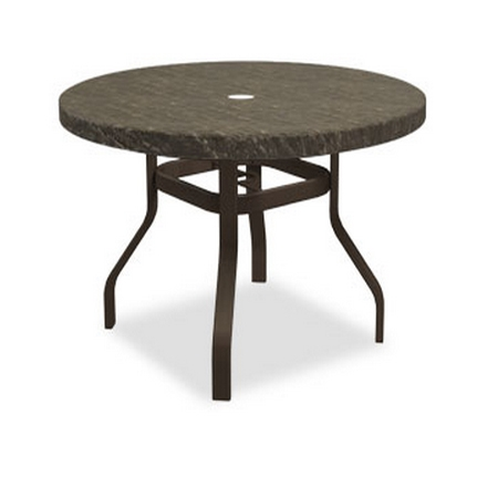 Homecrest Sandstone 42 inch round Balcony Table with Angled Legs - 3842RBSS-NU