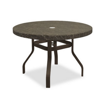 Homecrest Sandstone 42 inch round Dining Table with Angled Legs - 3842RDSS-NU