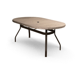 Homecrest Slate 42 inch by 72 inch Oval Balcony Table - 374272BSL