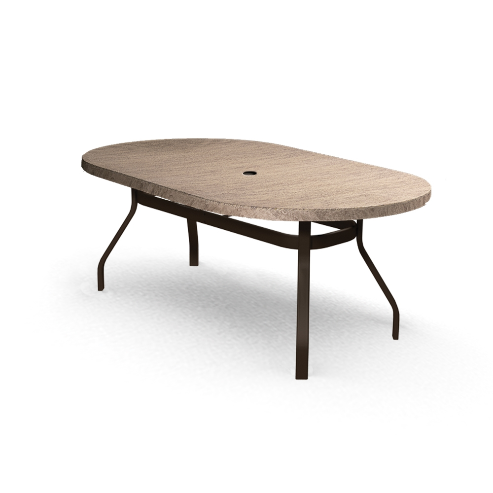 Homecrest Slate 42 Inch By 72 Inch Oval Dining Table   374272DSL ...