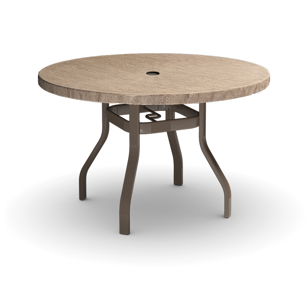 Homecrest Slate 42 inch Round Balcony Table - 3742RBSL-NU