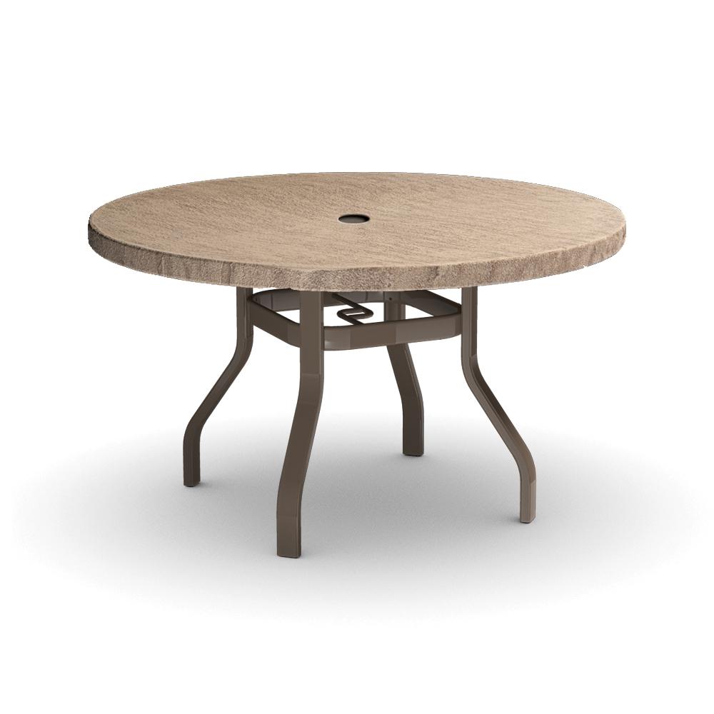 Homecrest slate 42 inch round dining table 3742rdsl nu