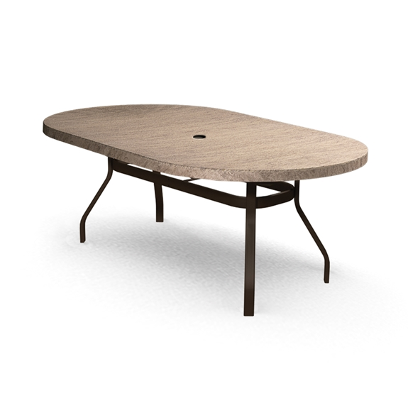 Homecrest Slate 44 Inch By 84 Inch Oval Dining Table 374484DSL