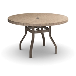 Homecrest Slate 48 inch Round Balcony Table - 3748RBSL