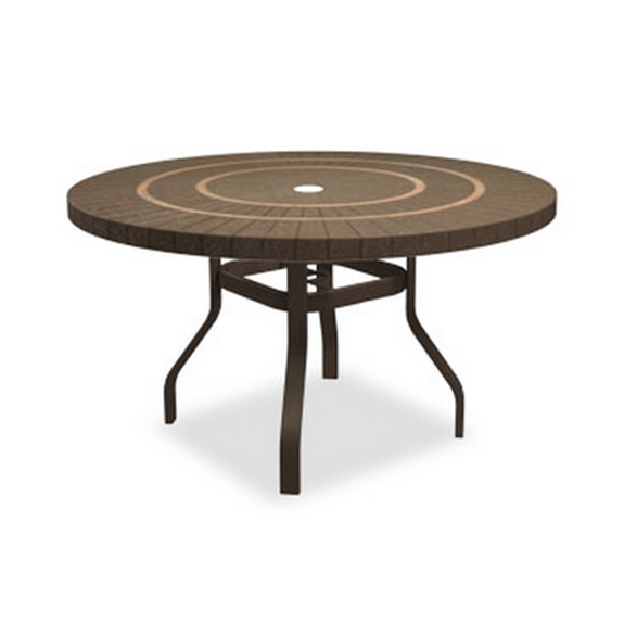 Homecrest Sorrento 54 Inch Round Dining Table With Angled Legs