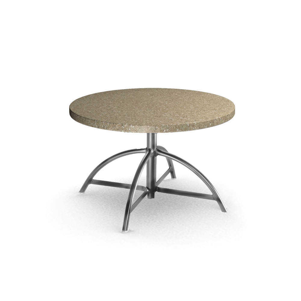 Homecrest Stonegate 30 inch Round Table with Adjustable Base - 1330B-C0030RSG